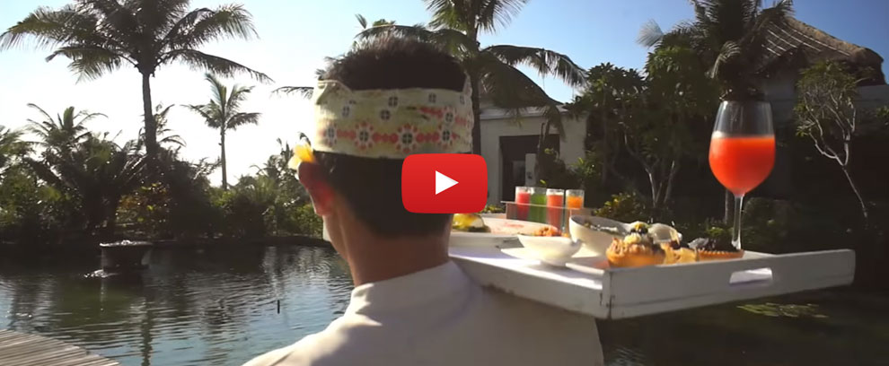samabe suite and villas brakfast video