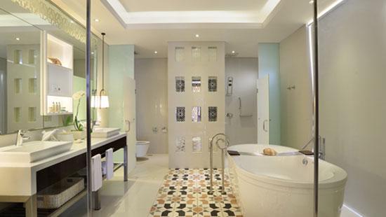 >Bathroom at the Ocean Pool Villa