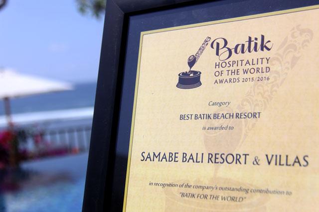 The best Batik Beach Resort Award