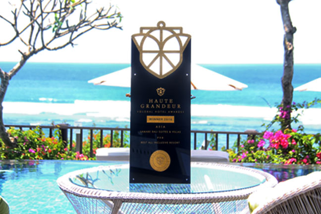 Samabe Bali Suites &Villas Wins Prestigious Haute Grandeur Awards 2016 as Best All Inclusive Resorts