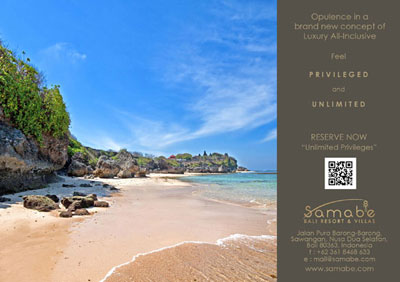 Experience Introducing UNLIMITED PRIVILEGES Luxury All-Inclusive at Samabe Bali Suites