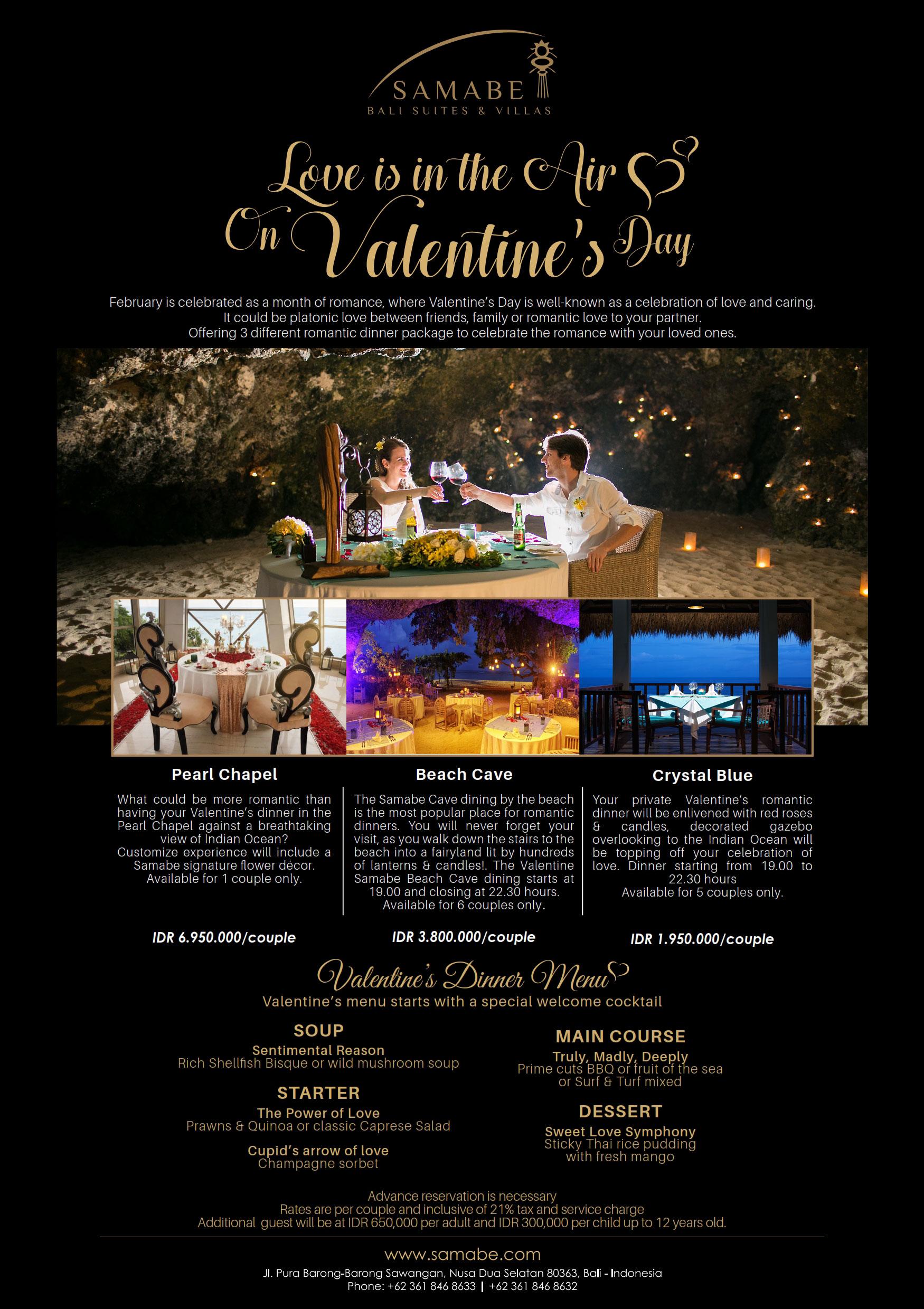 Samabe Valentine's Day Promotion